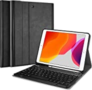 ProCase iPad 10.2 2019 Keyboard Case, Slim Shell Lightweight Smart Cover with Magnetically Detachable Wireless