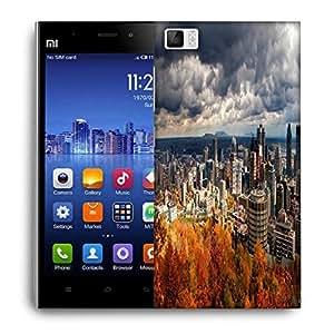 Snoogg Autumn Cityscapes Designer Protective Phone Back Case Cover For Xiaomi Redmi 3