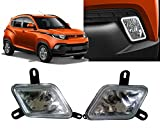 #9: Auto Pearl - Premium Quality Car Fog Lamp Lights For - Mahindra KUV 100 (Without Plastic Sash Cover)