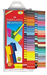 Faber-Castell Connector Pens, Multicolor - Pack of 50