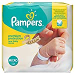 Pampers Premium Protection Size 0, 24 Nappies, Pampers Softest Comfort, Approved By British Skin Foundation, 1.5-2.5 kg ,6 x 24 couches