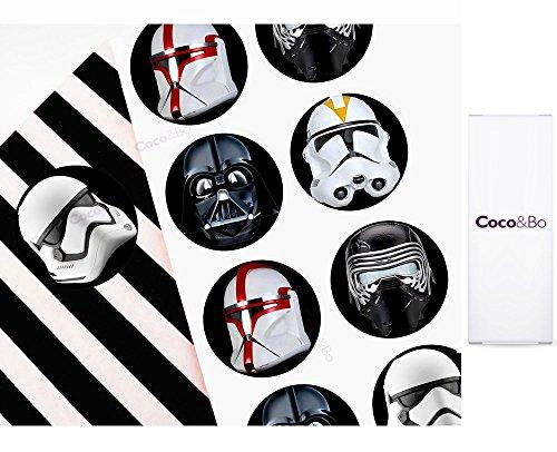 10x Coco & Bo-Star Wars Villains Party Aufkleber-Ideal für Gastgeschenke, Mitgebsel oder lädt. Darth Vader Kylo REN Storm Trooper und Clone Tropper Thema Party Dekorationen & Cake Zubehör (Wars Supplies The Party Clone)