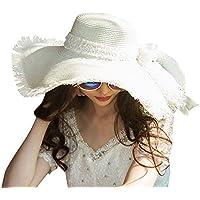 semen Damen Strand Hut Sommer Strohhut Breite Krempe mit Bowknot Mode Casual Strandmütze Sonneschutz Handgestrickte Werk Vier Farben