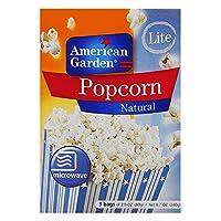 American Garden Microwave Popcorn Natural Light - 240 gm