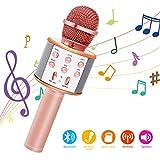 Bearbro Micrófono Inalámbrico Bluetooth,Micrófono Karaoke Bluetooth Portátil con Función...