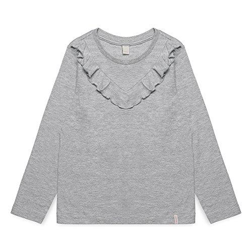 ESPRIT Mädchen Langarmshirt RK10423, Grau (Light Heather Grey 221), 92 (Herstellergröße: 92+)