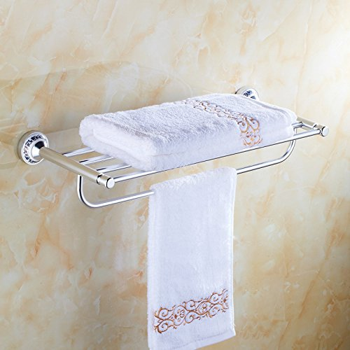 QUEEN'S Continental Bath Towel Rack Antique Gold Towel Rack Porcelain Bathroom Racks Toilet ,Bathroom Storage Rack Toilet Bowls Wall Hanging
