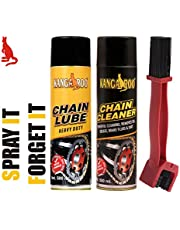 Kangaroo Chain Lubricant Spray & Chain Cleaner Spray(500 ML Each) and Cleaning Brush