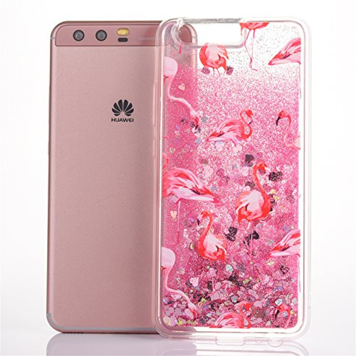 iPhone 8 Plus Hülle, Voguecase Diamond druckt Treibsand Glitzer Bling Silikon Schutzhülle / Case / Cover / Hülle / TPU + PC Gel Skin für Apple iPhone 7 Plus/iPhone 8 Plus 5.5(rose all day/Gold) + Grat Flamingo 09