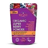 Next Gen U | Organic Super Beeren Pulver 150g | Vegan Detox Superfood Roter Smoothie | Frische Energie | Antioxidationsmittel | Acai Cranberry Blaubeere Schwarze Johannisbeere Goji Aronia Leinsamen