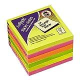 Karteczki samoprzylepne Snopake 76x76 neon 6x100 sztuk