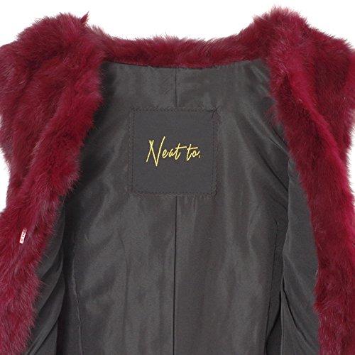 Neat to. - Manteau sans manche - Femme - Rouge bordeaux