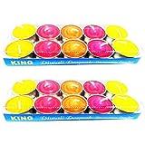 Grasme Pack Of 20 King Multicolor Diya Multi Color (2 X 10, Total 20)