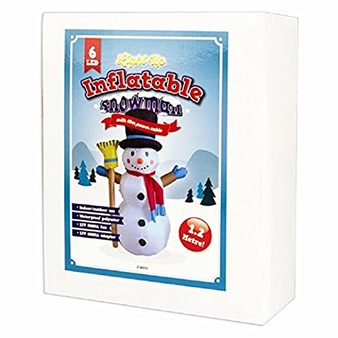 Snowman Gonflable - 1 x 1.2 m gonflable Light Up Snowman- Intérieur