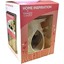 Set bruciatore per cera Home Inspiration With Love ufficiale di Yankee Candle, include cubetti di cera e lumino non profumato, idea regalo