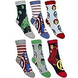 Marvel 6er Set Avengers Kinder Socken Strümpfe für Jungen Gr. 23-34 wählbar (23-26)