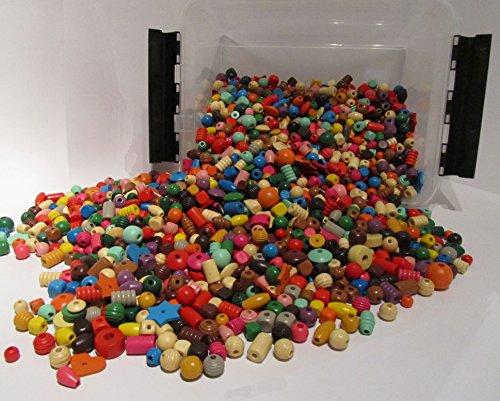Playbox Holzperlen (rot/gelb/orange)