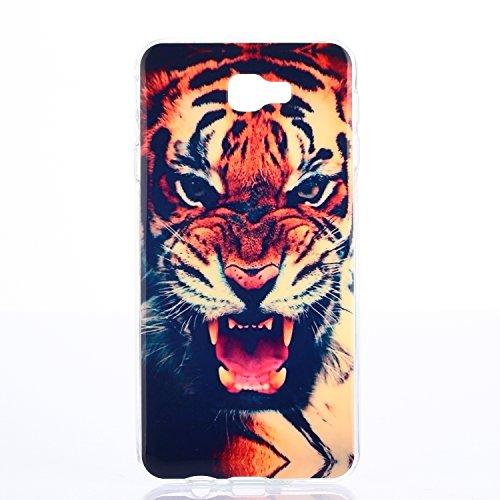 Qiaogle Telefon Case - Weiche TPU Case Silikon Schutzhülle Cover für Apple iPhone 7 (4.7 Zoll) - FX04 / Löwenzahn FX01 / Tiger