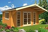 Gartenhaus SAUERLAND A 70 Blockhaus 470 x 380 cm Holzhaus 70 mm NEU