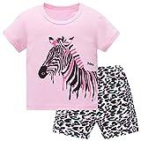 Hugbug Mädchen Schlafanzug Kurz mit Zebra 2 Jahre