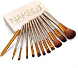 NAKEDPLUS Makeup Brushes Kit with A Silver Storage Box - Set of 12