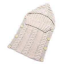 Wickeldecke Für Neugeborene tangbasi aus Infant Baby Schlafsack Wolle Strickdecke