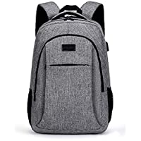 DZTIZI 18 Inch Laptop Backpack, Business Travel Backpack With Charging Port, Pockets Water Resistant Backpack For Women And Men Grey
