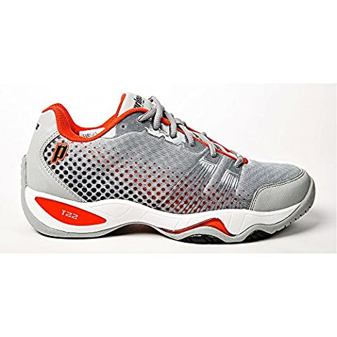 Prince Men's Synthetic T22 Lite Tennis Shoes 9.5 D(M) US Gray/Black/Red