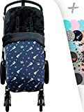 JANABEBE Universal Winter Fußsack für Kinderwagen & Buggy weiches (ROCK HERO, THERMO FLEECE)