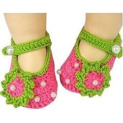 tfrdertuuigf recién nacidos flores Pearl ganchillo sandalias niños zapatos