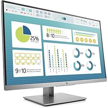 """HP - PC EliteDisplay E273 Monitor, Schermo 27"""" IPS Antiriflesso FHD, Regolabile Altezza fino a 150 mm e Inclinazione, Pivoting 90°, Comandi Integrati, VGA, USB 3.0, HDMI, DisplayPort, Argento"""