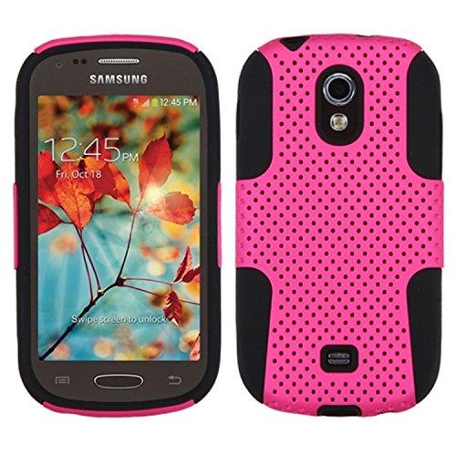 MYBAT ASMYNA Astronaut Handy Displayschutzfolie Cover für Samsung Galaxy Light T399-Retail Verpackung, schwarz/pink (Für Cover T399 Samsung)