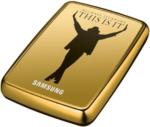 externe Festplatte 500GB (6,4 cm (2,5 Zoll), USB 2.0) gold (im Michael Jackson Design inkl. Film 'This Is It') ()