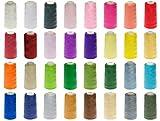 16 Rollen Qualitäts – Overlockgarn – 3000 yards - freie Farbwahl aus 32 Farben - Overlock - Garn – reißfest