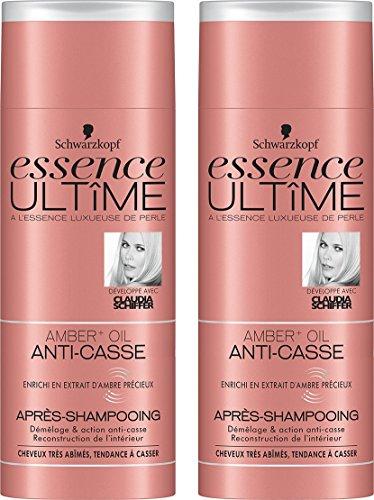 Essence Ultîme Après-shampooing Anti Casse Amber + Huile 250 ml - Lot de 2