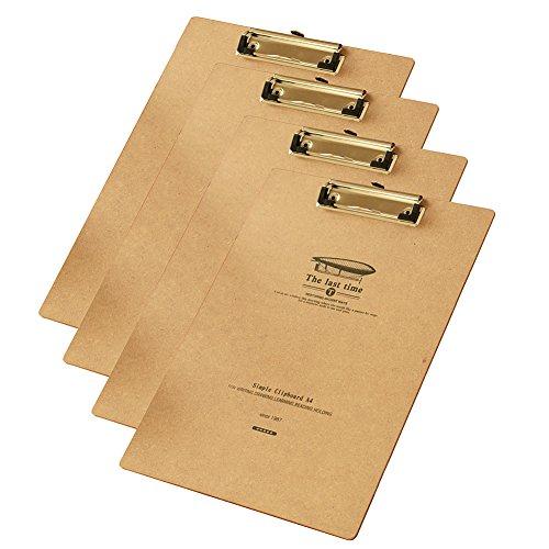 gossipboy 4pcs/1set Vintage l' ultima volta carta A4file con angoli arrotondati per scrivere resistente clip Menu Board con foro per appendere