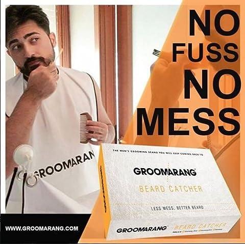 Groomarang Beard Shaving and Clippings Catcher Bib- Less Mess, Better Beard