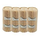 COM-FOUR® Elastik Bandage Haftbandage Fixierbinde (4er Set mit Befestigungsklammer)