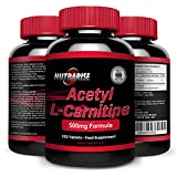 Acetyl L-Carnitine, Powerful Fat Burner, The Amino Acid that Works as an Appetite Suppressant and Increases Weight Loss, L-Carnitine is a Fatigue Supplement that Increases Stamina, 500mg, 120 Capsules