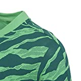 adidas Jungen Linear Print Kurzarm T-Shirt, Energy Green/Noble Green/White, 128