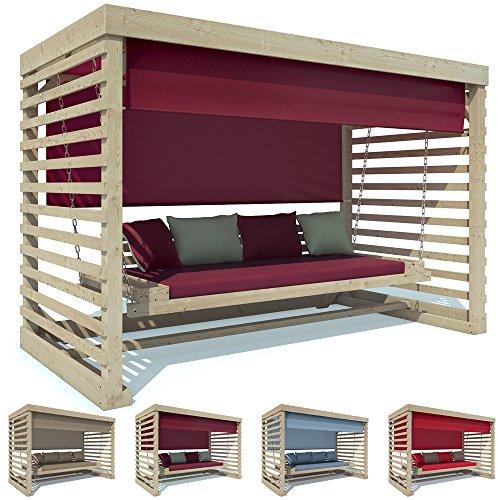 Hollywoodschaukel Holz Garten ~ Hollywoodschaukel Tiffany Holz Gartenschaukel Schaukelbank