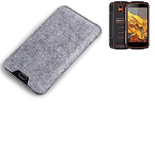 K-S-Trade Filz Schutz Hülle für Energizer P20 Schutzhülle Filztasche Filz Tasche Case Sleeve Handyhülle Filzhülle grau