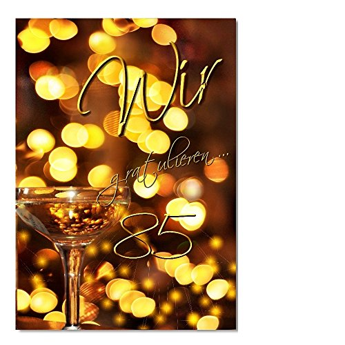 DigitalOase Glückwunschkarte 85. Geburtstag Geburtstagskarte Grußkarte Format DIN A4 A3 Klappkarte PanoramaUmschlag