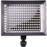 Kaavie - Amélioration de la qualité Profeesional - High Brightness LED 160 torche vidéo LED + F750 Batterie - Pleins feux LED pour les reflex numériques et les caméscopes Canon - Nikon - Olympus - Sony - Panasonic - Pentax
