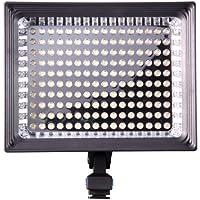 Kaavie - Qualità superiore Profeesional - Illuminatore Luce LED 160 LED video light + F750 Batteria - Faretto LED per fotocamere reflex digitali e videocamere Canon - Nikon - Olympus - Sony - Panasonic - Pentax