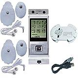 Elektronischer Physiotherapiemassager-Pulsmuskelstimulator mit 2 Batterien und 4 Pads für Schmerzlinderung und -management