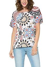 Camisetas es Desigual Blusas Ropa Amazon Y Camisetas Rojo Tops dtqxvvwZ5