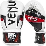 Venum Elite - Guantes de boxeo para combate, color blanco, talla 14 oz (396 g)