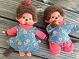 Puppenkleidung handmade für MONCHICHI Gr.20 MONCHHICHI Zwillinge Bekleidung Blümchen + Ringel Kleidung