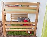 Hochbett für Erwachsene Easy Premium Line K15/n, Buche Vollholz massiv Natur, umbaubar - Liegefläche: 140 x 200 cm - 7